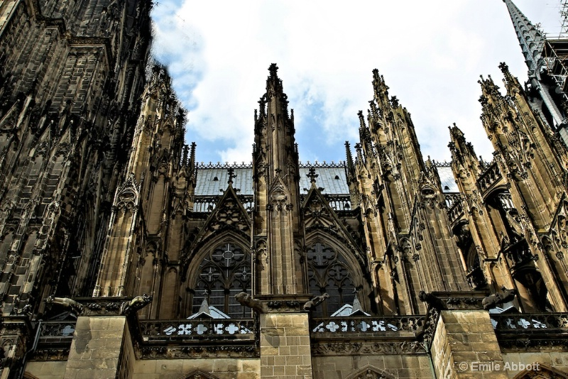 Side of the Gothic Cologne Cathedral