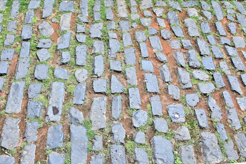 Medieval cobble stone road