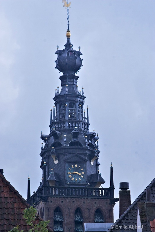 Close up Steeple of  St. Stevenkerk in Nijmegen