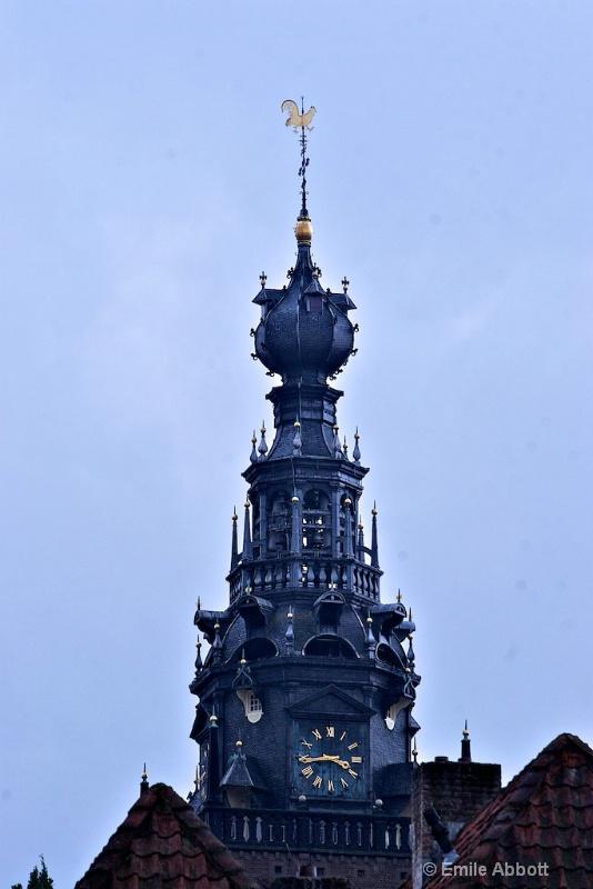 Spire on top of St. Stevenkerk, Nijmegen