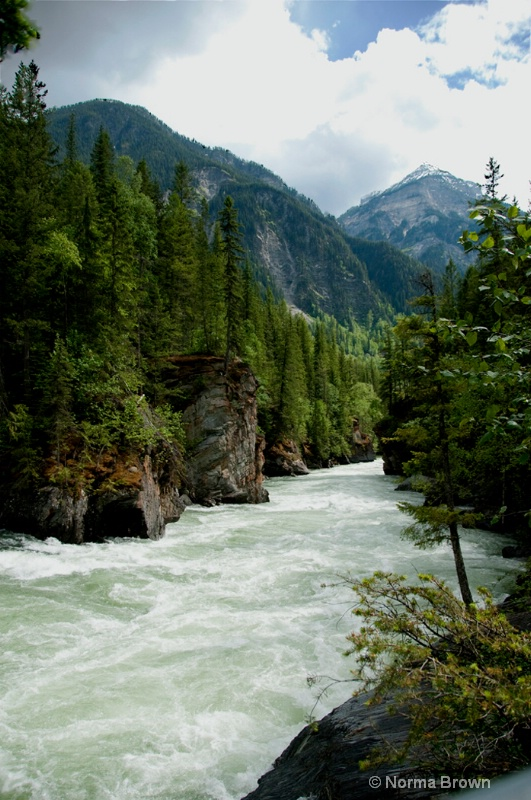 Overlander Falls, BC on Yellowhead Highway, Canada