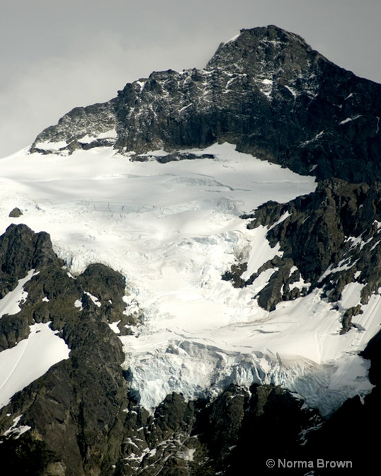 Hanging Glacier on Mt. Shuksan, WA