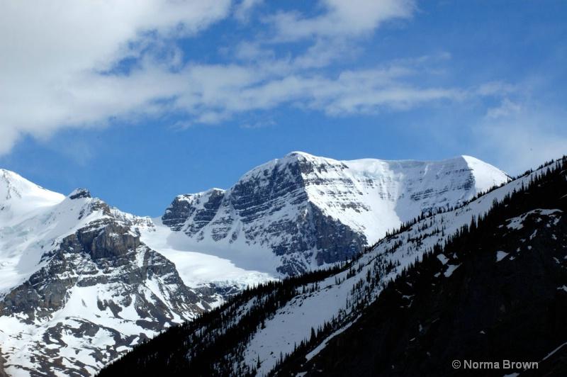 Mountain View on Banff-Jasper Hwy, Canada