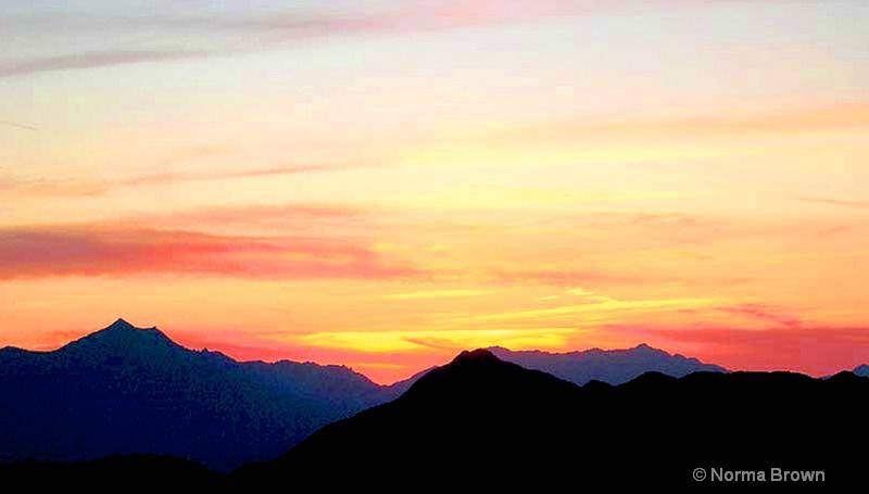 Sunset View from South Mtn. / Phoenix, AZ