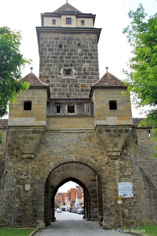 Gateway to Romantic walled city of Rothenburg