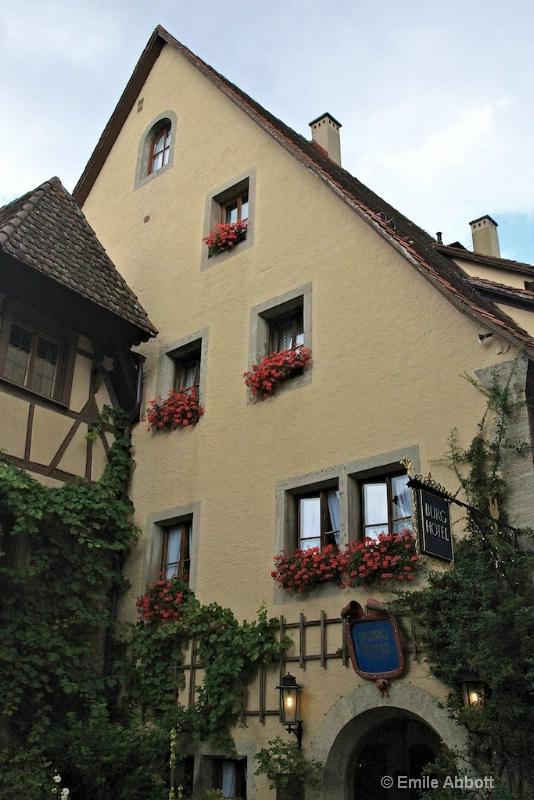 Burg hotel in Rothenburg