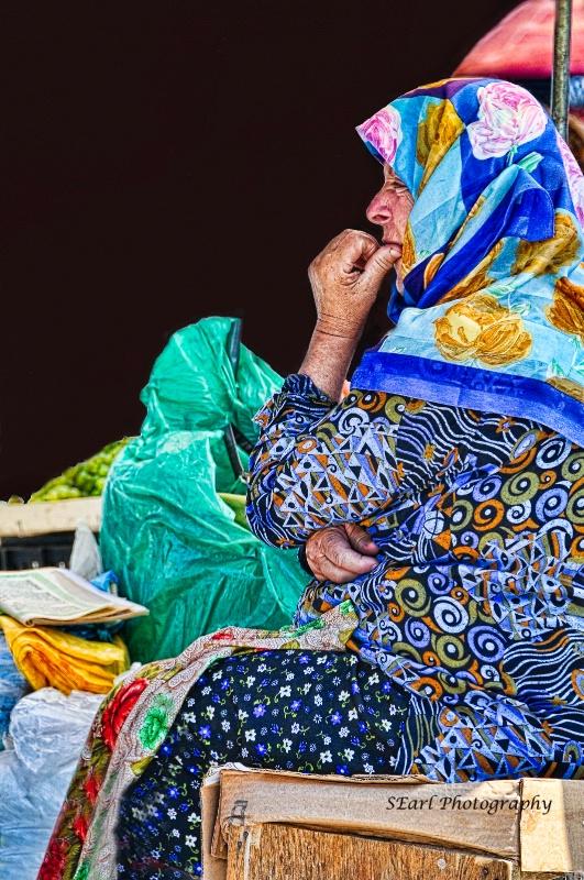 Albanian Woman in Market