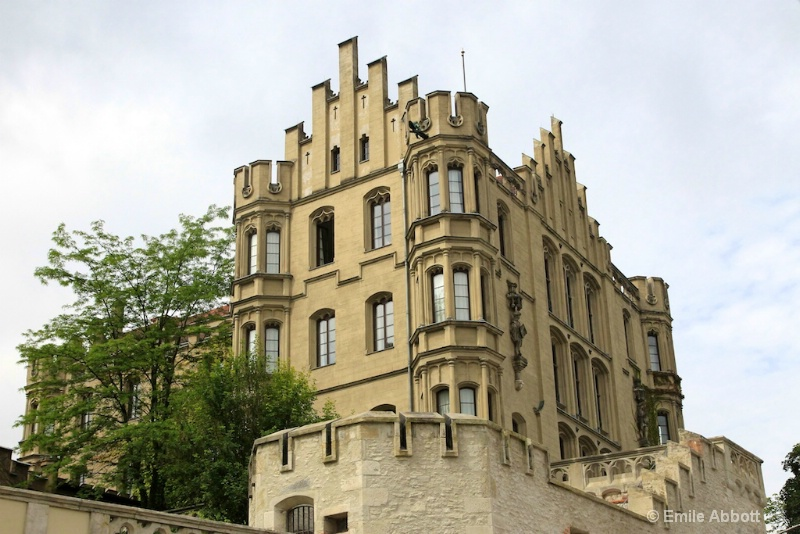 Villa of the King of Bavaria on the Danube