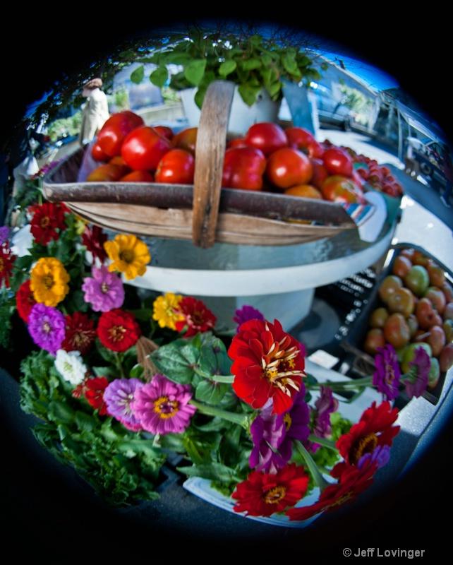 Lensbaby fisheye, Farmers market
