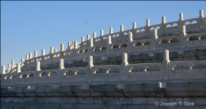 temple of heaven carved railings poster