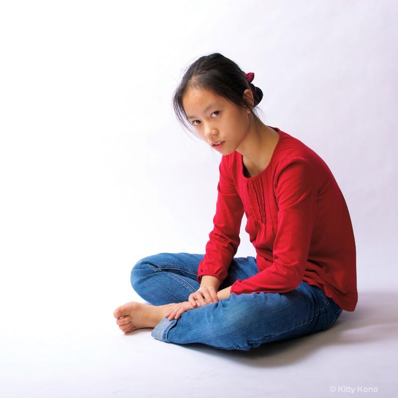 Yumiko in Red Shirt
