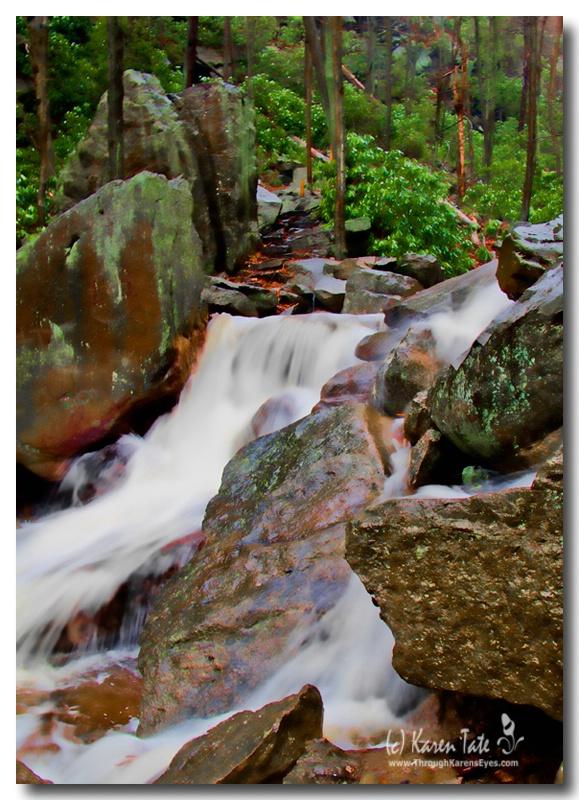 Glen Onoko Falls-Painterly