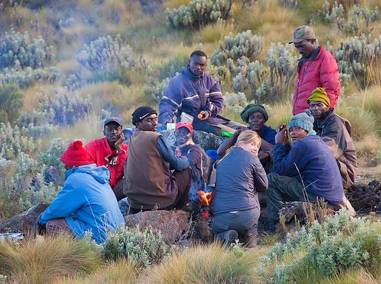 Interacting with the porters