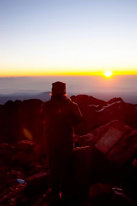 Sunrise on Mt Kenya