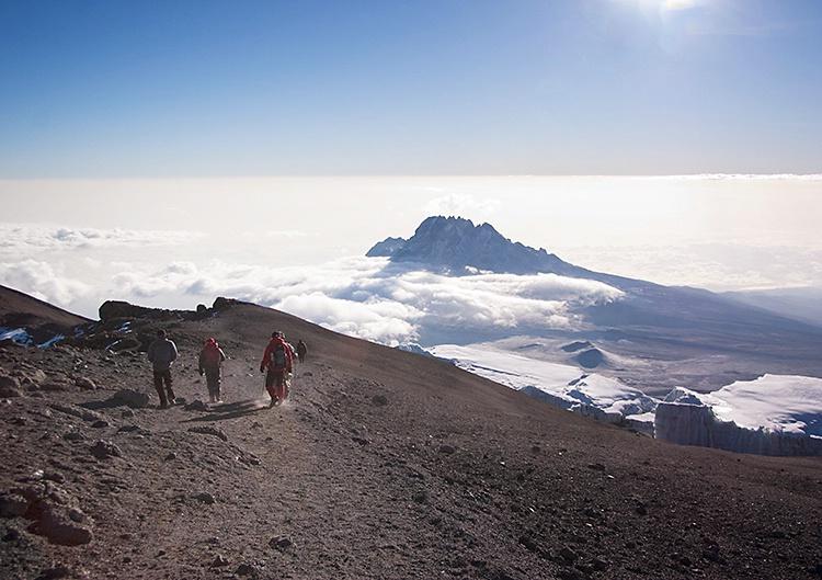 Descending Kili