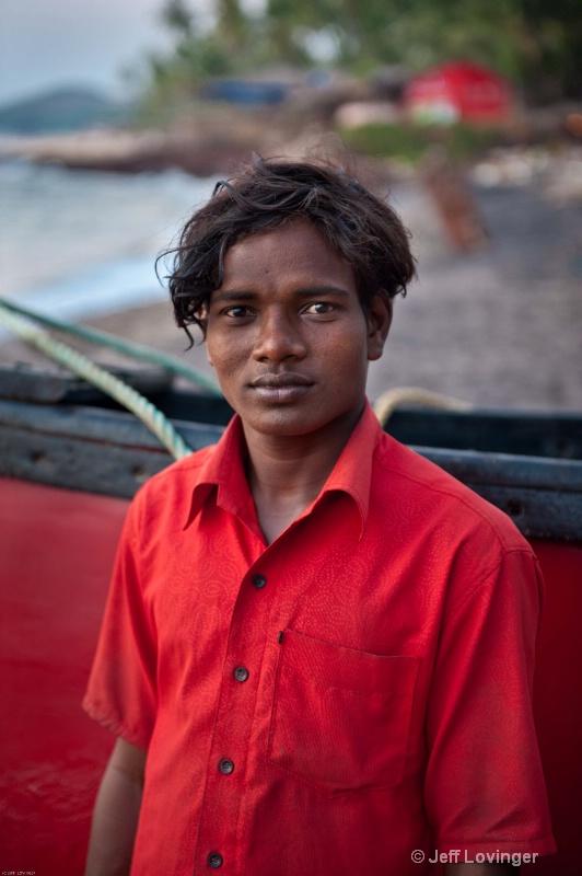 Young Friendly Goan Fisherman. Goa, India