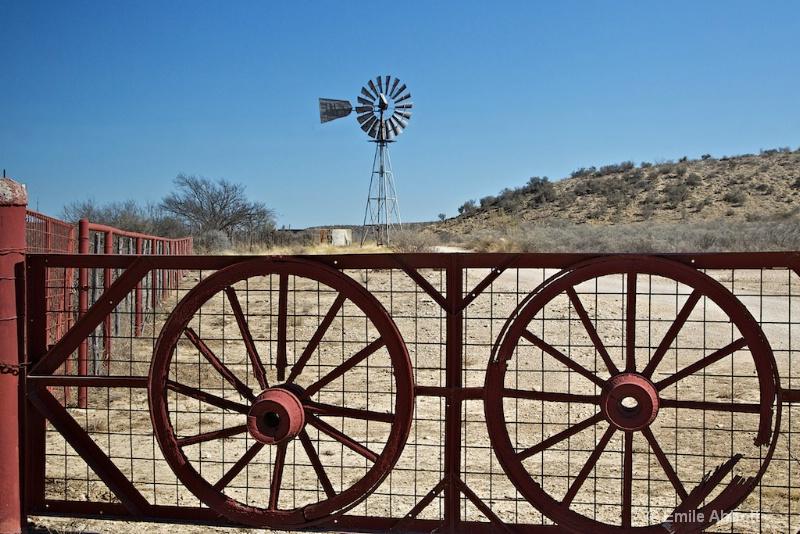 Broken Wagon Wheels and Windmill