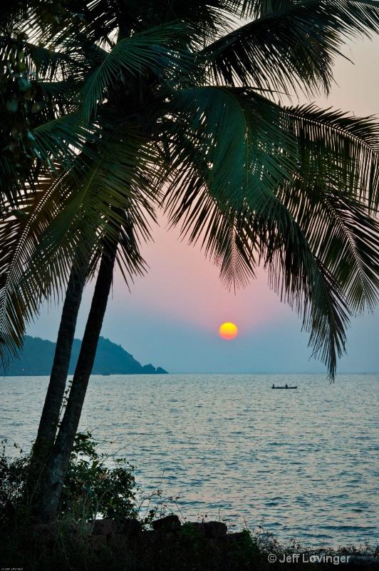 Sunset. Goa, India