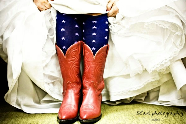Red Bridal Boots