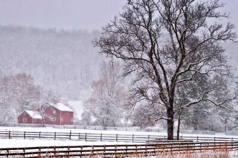 Hale Farm - CVNP Snowy Morning