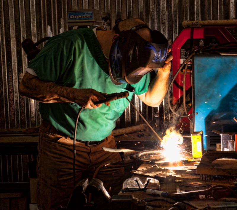 Welding a Therapeutic Horse Shoe