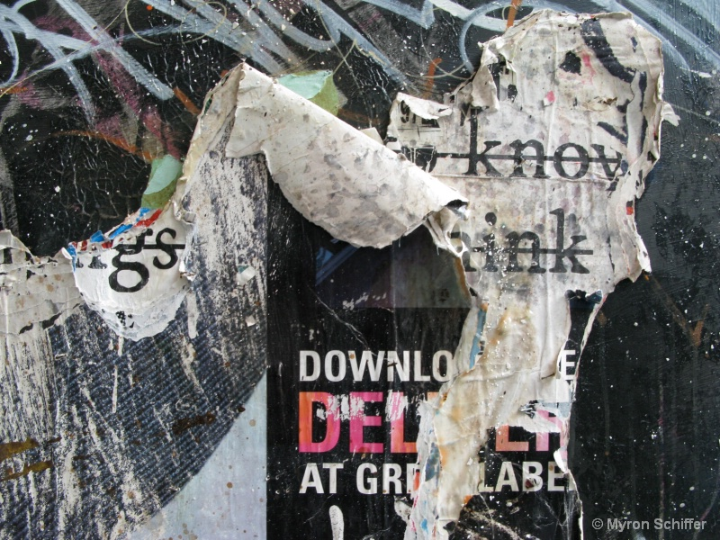 Peeling Paper Collage, No. 0684