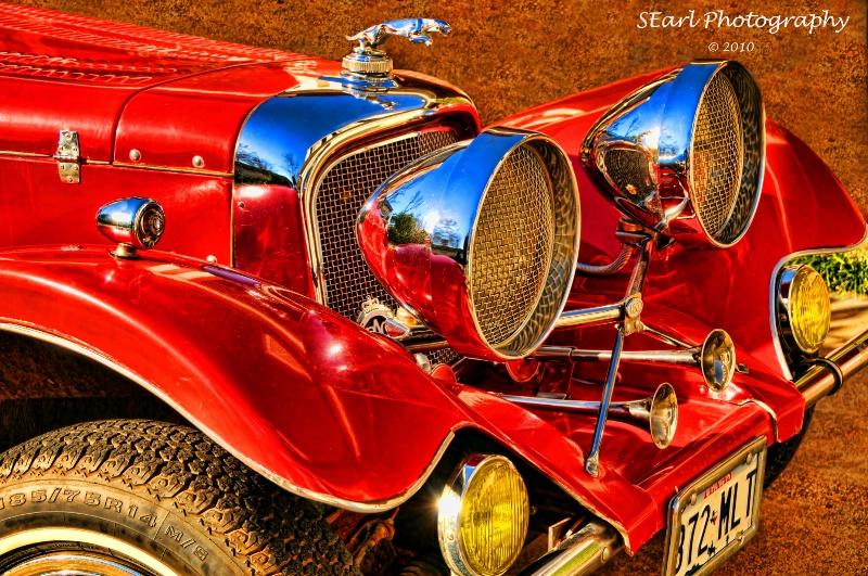 Antique Red Car