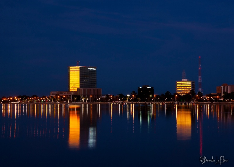 Lake Charles in Blue & Gold