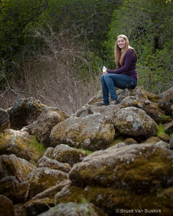 julie on the rocks