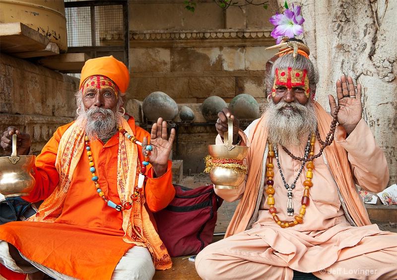 Two Sadhus, India
