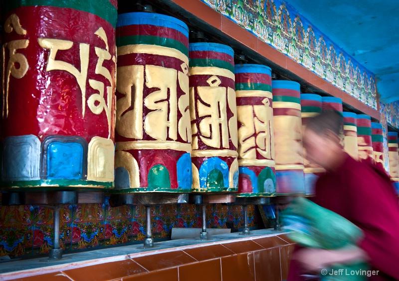 Tibetan Prayer Wheels, McLeod Ganj, India