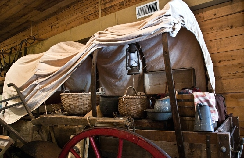 William and Martha Drinkard's Covered Wagon