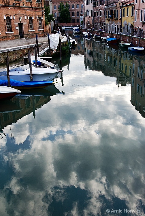 Canal with Clouds
