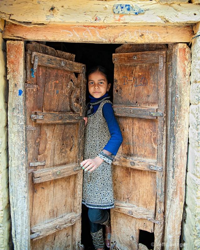 Girl in Doorway, Rajasthan, India