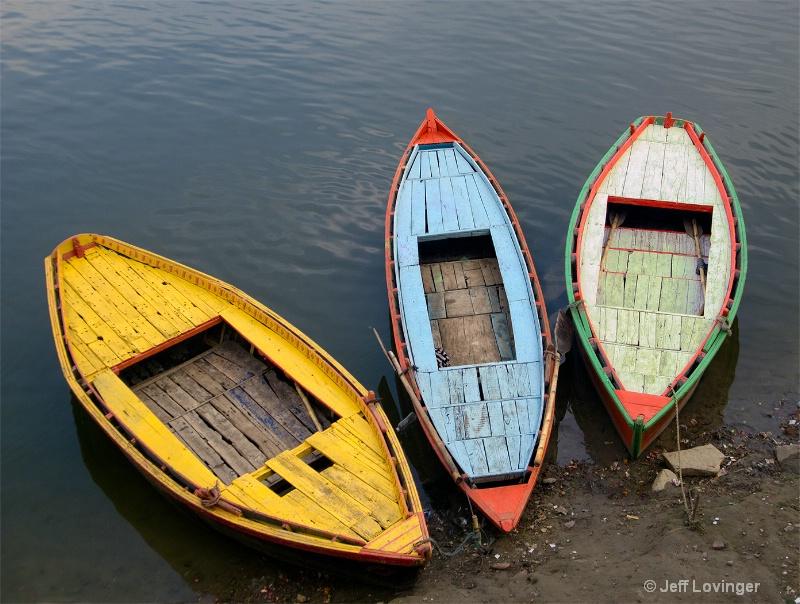 Boats on the Ganges, Varanasi, India