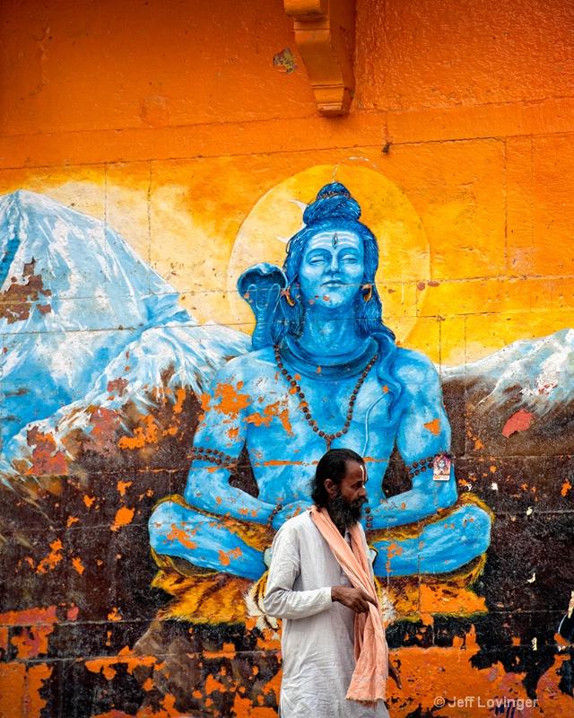 Shiva and Devotee, Varanasi, India