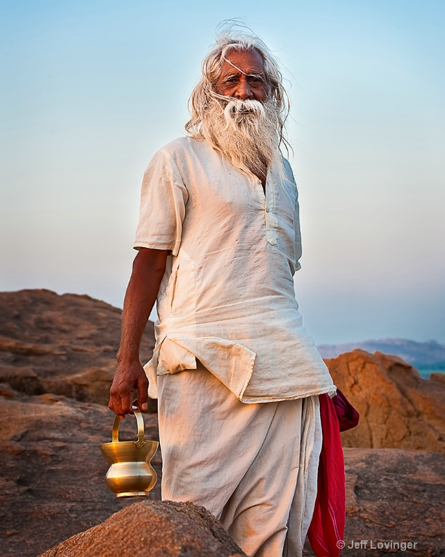 Devotee on Hanuman Mountain