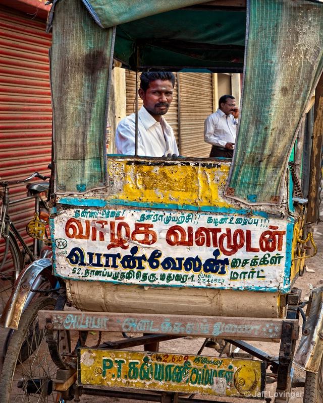 Rickshaw and Driver