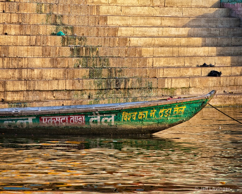 Boat by the Ganges Ghats