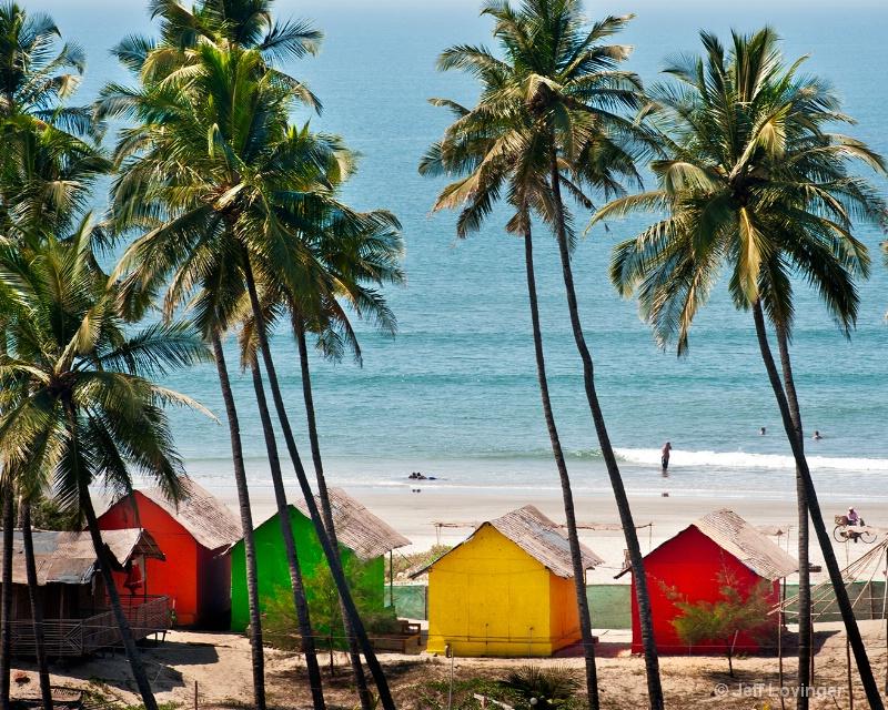 Colored Cottages, Goa, India