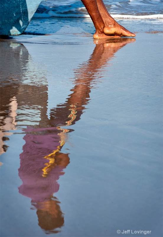 Reflection, Gokarna, India