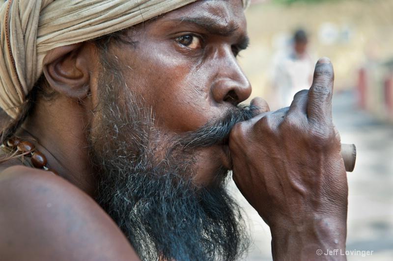 Smokin Saduh. Rishikesh, India