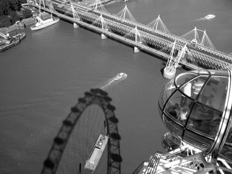 The Big Eye aka The Millennium Wheel London 1615bw