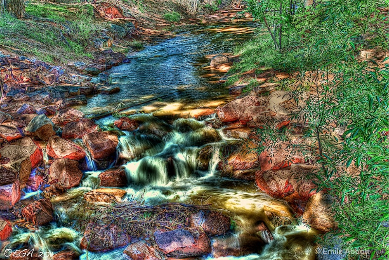 Fountain Creek, Manitou Springs in HDR