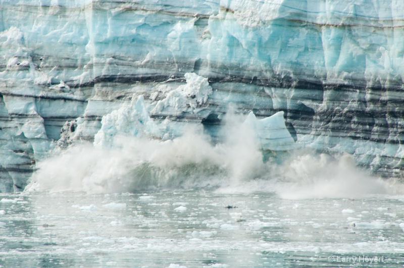 Iceberg calving at Glacier Bay National Park in Al