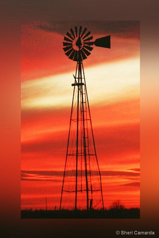 Old Windmill Framed