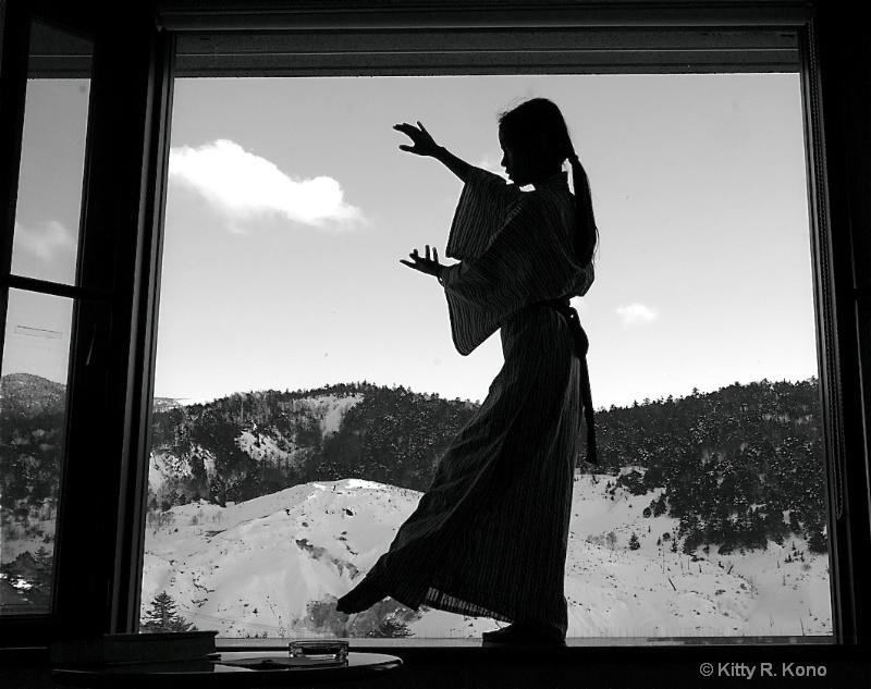 Yumiko Dancing on the Windowsill