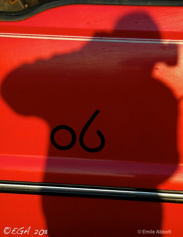 Photographer shadow on 06 ranch truck
