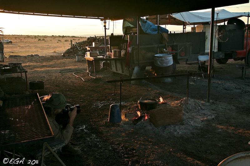 Wyman Meinzer photographs fire and coffee pot
