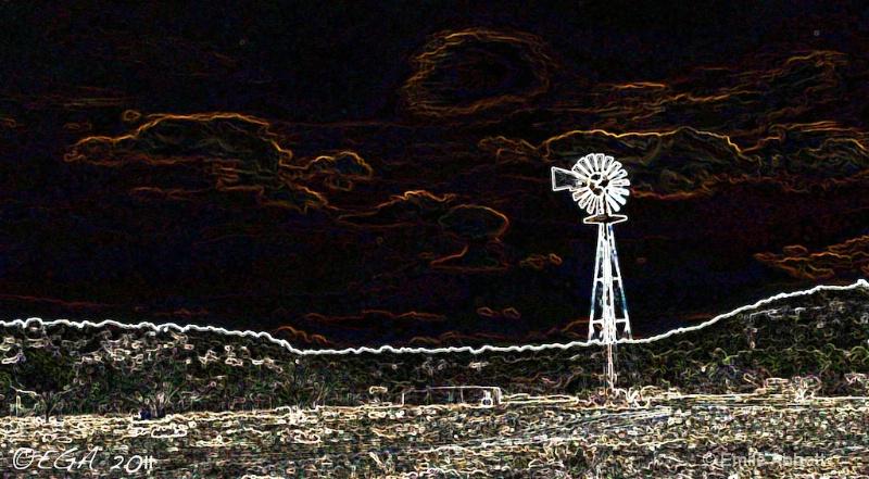 Windmill on the horizon